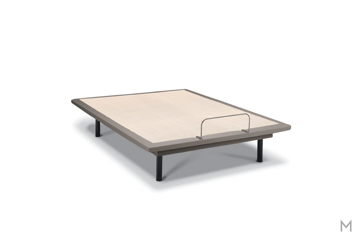 Tempur-Pedic TEMPUR-Ergo® Plus Adjustable Base - Queen in Gray Upholstery