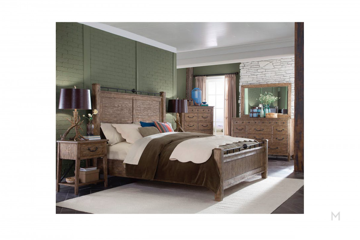 Riverbank King Bed in Weathered Gray