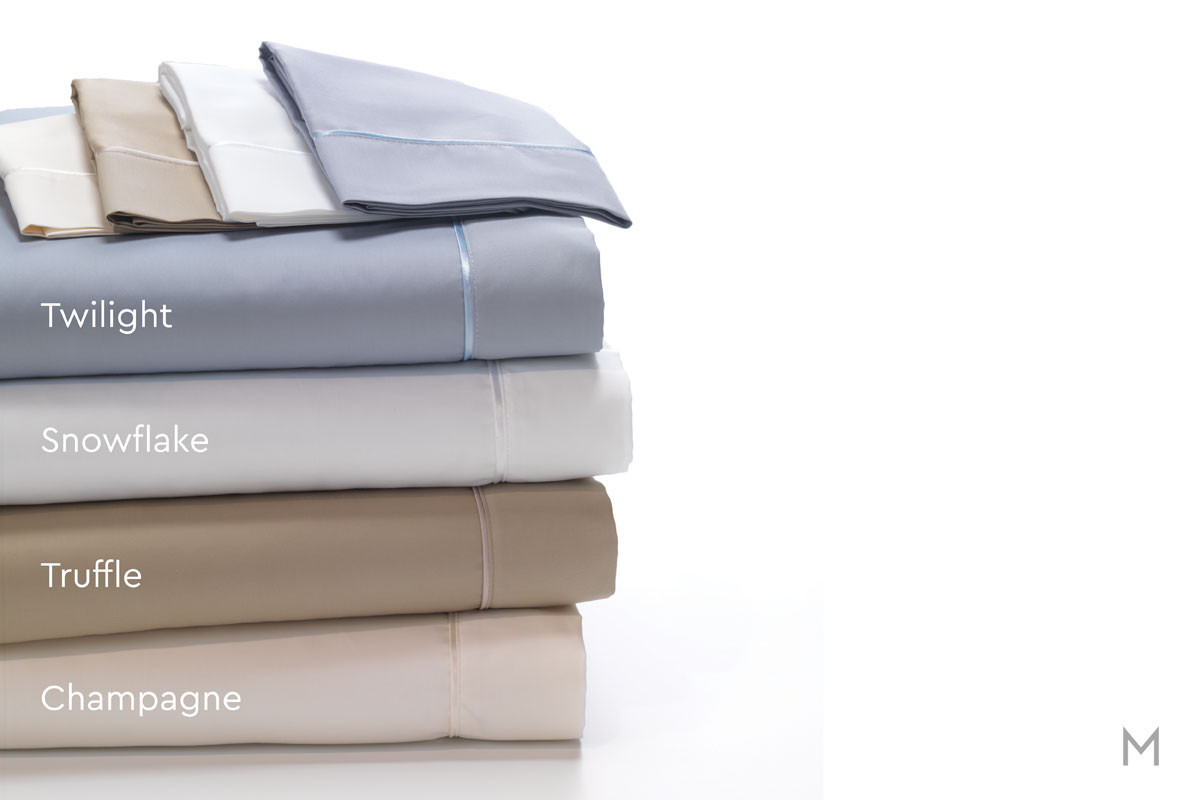 Degree 4 Egyptian Cotton Sheet Set - Queen in Champagne
