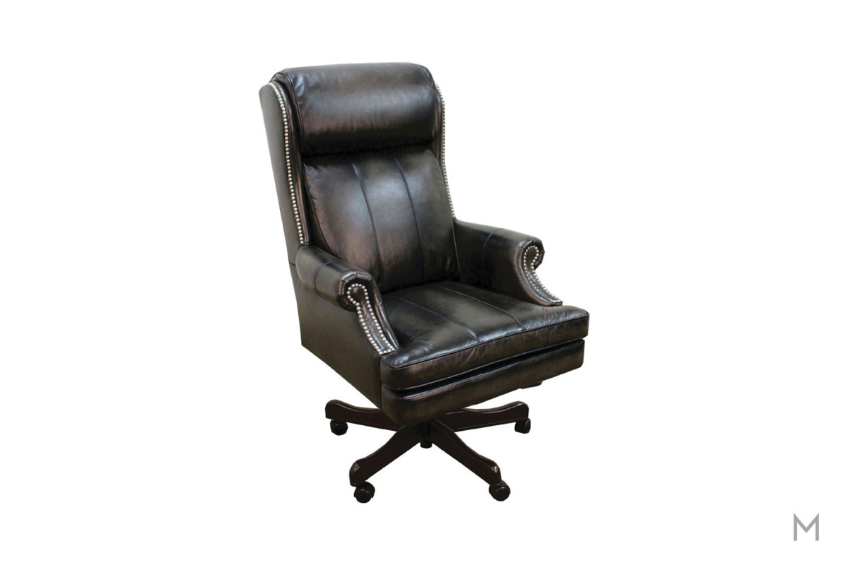 M Collection Prestige Executive Desk Chair with Nailhead Trim