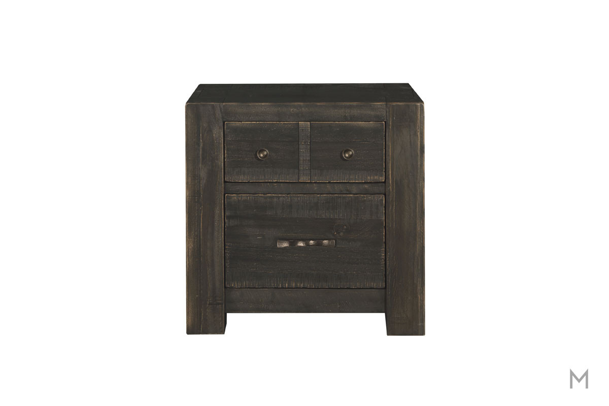 Easton Two Drawer Nightstand in Dark Chocolate