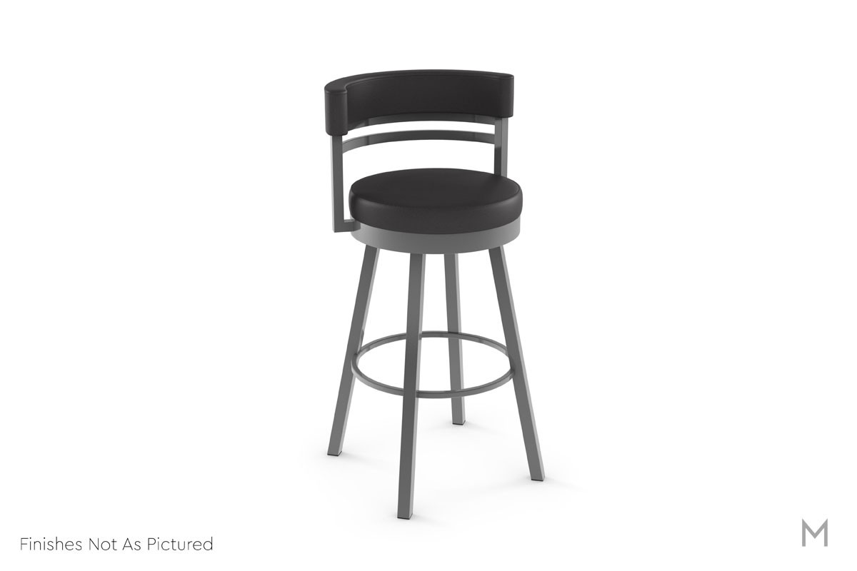 Ronny Swivel Bar Stool in Mineral Gray and Multi Gray