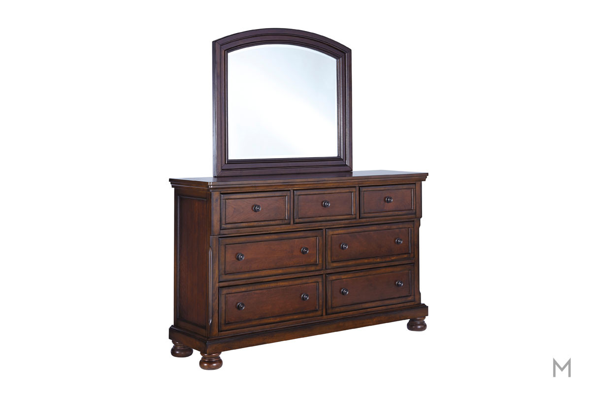 Porter Seven Drawer Dresser in Rustic Brown