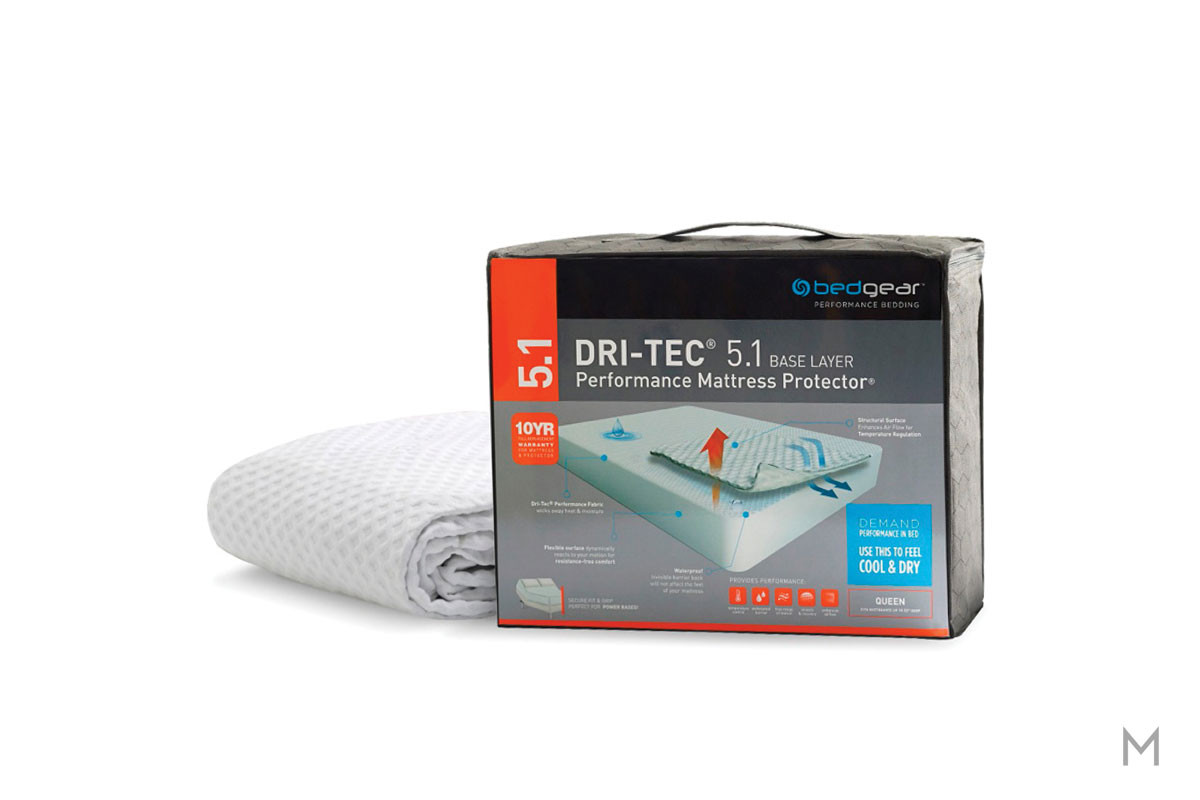 Dri-Tec 5.1 Waterproof Performance Mattress Protector - Twin with Dri-Tec 5.1 Fabric Surface
