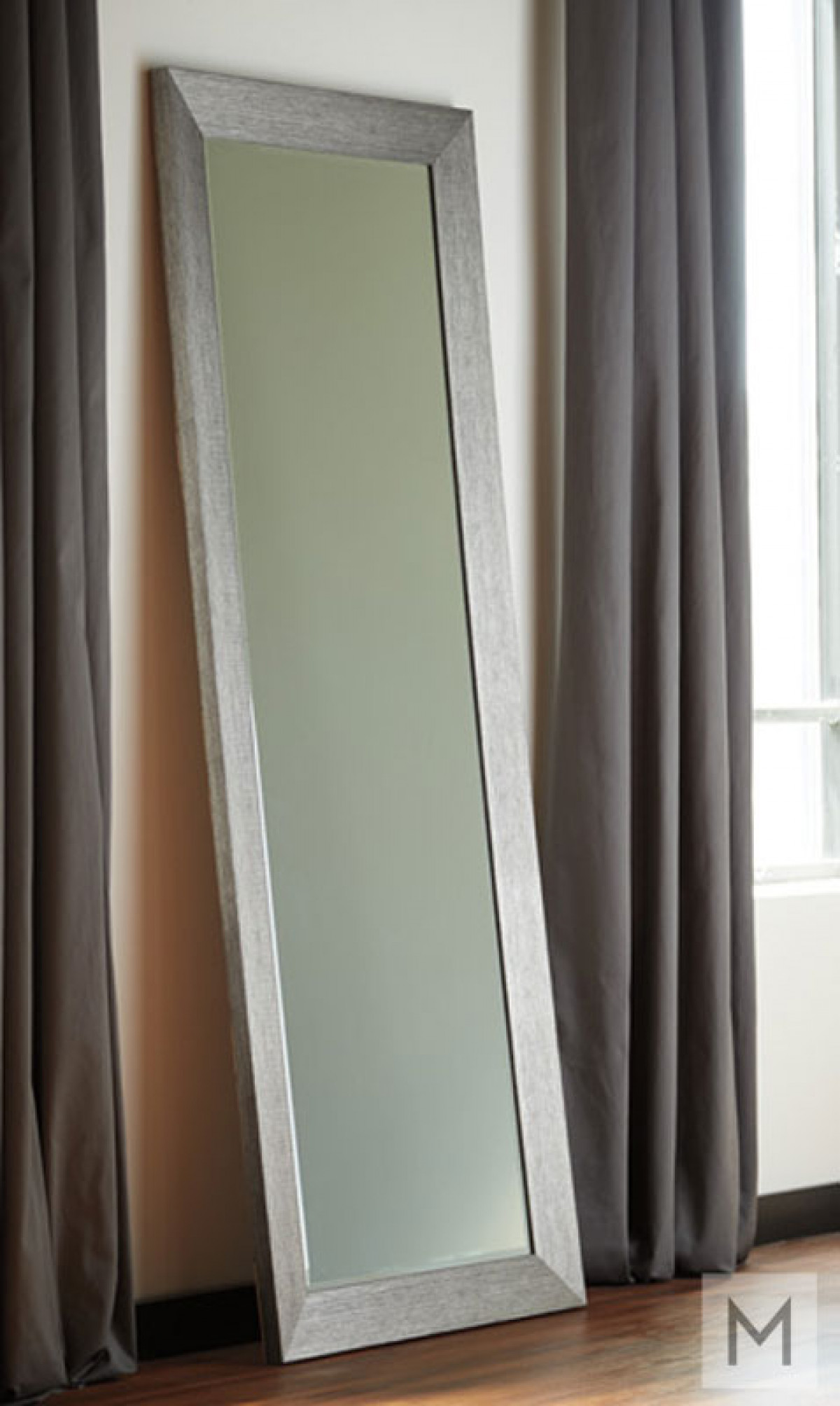 Contemporary Full Length Accent Mirror in Silver