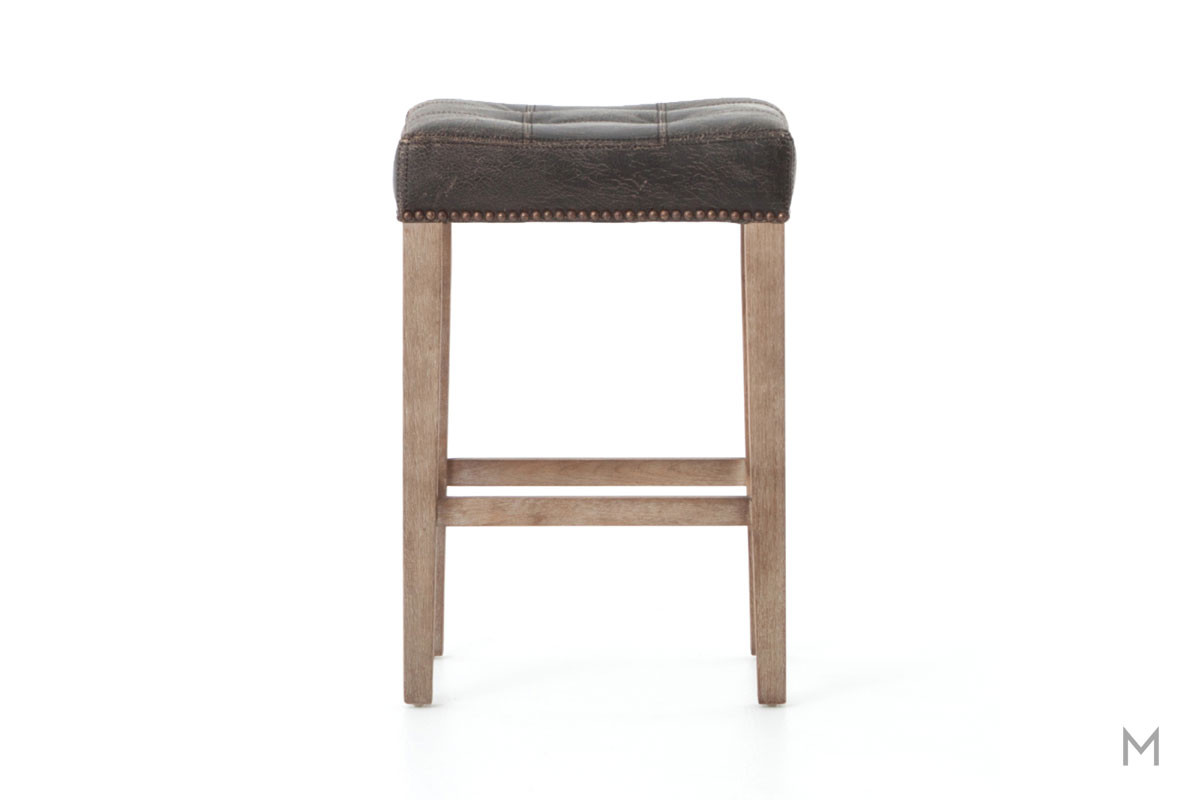 Sean Counter Stool in Destroyed Black and Whitewash