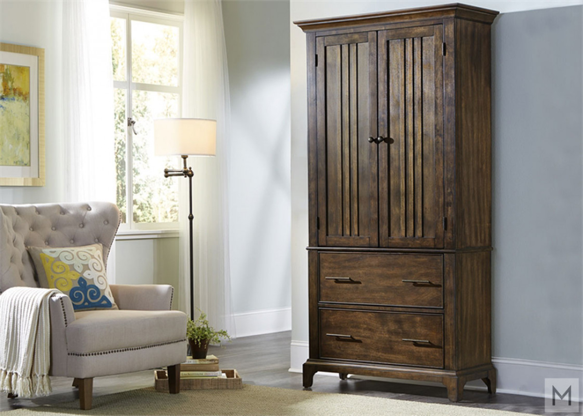 Mill Creek Armoire in Rustic Cherry