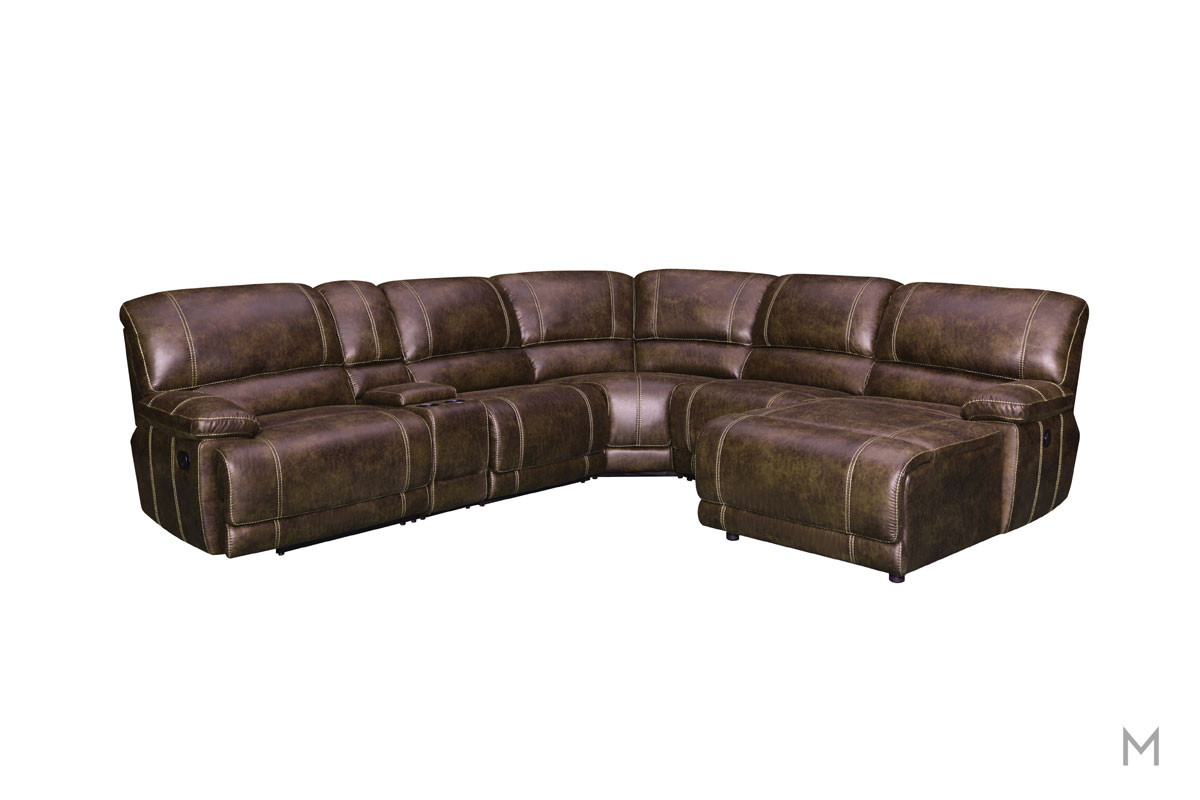 Foster Seven Piece Reclining Sectional with Pillow Top Arms