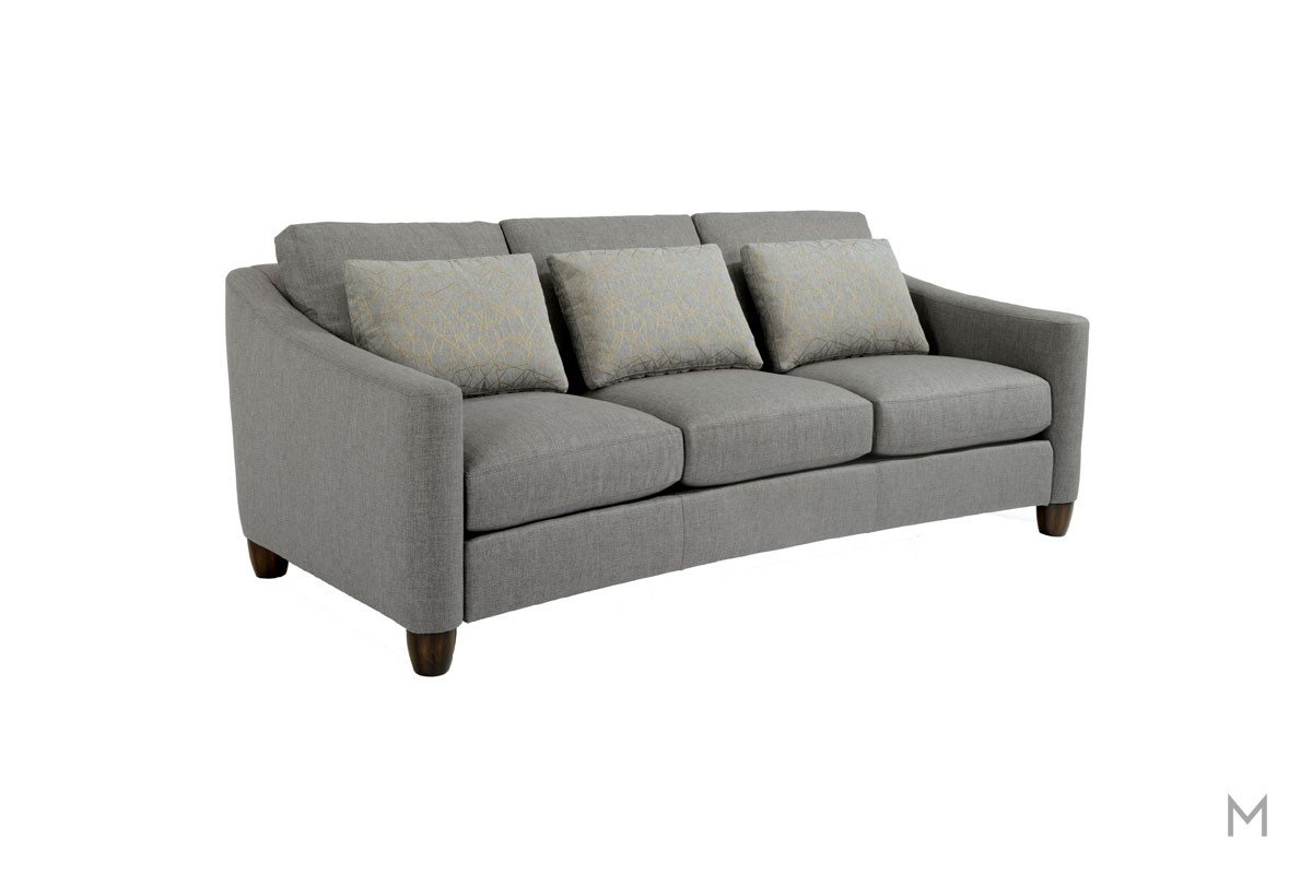 Sasha Fabric Sofa in Gray Quarry