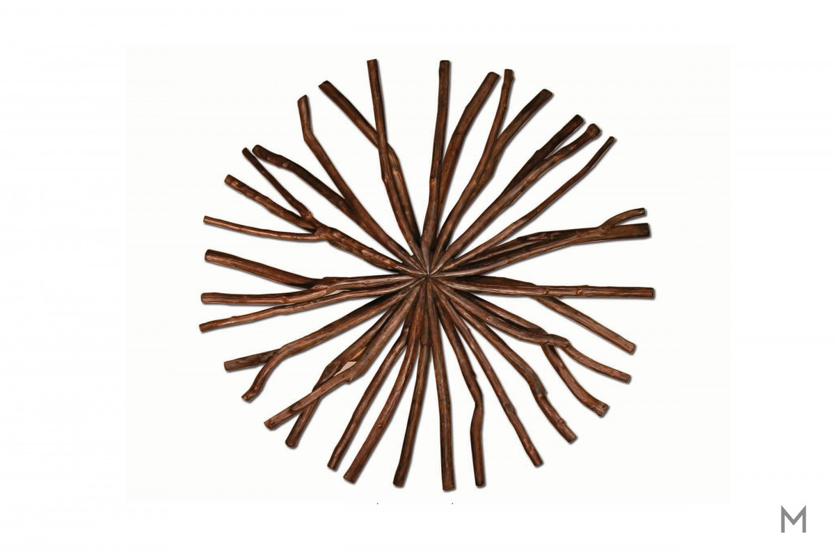Medium Antares Snowflake in Chocolate Hue