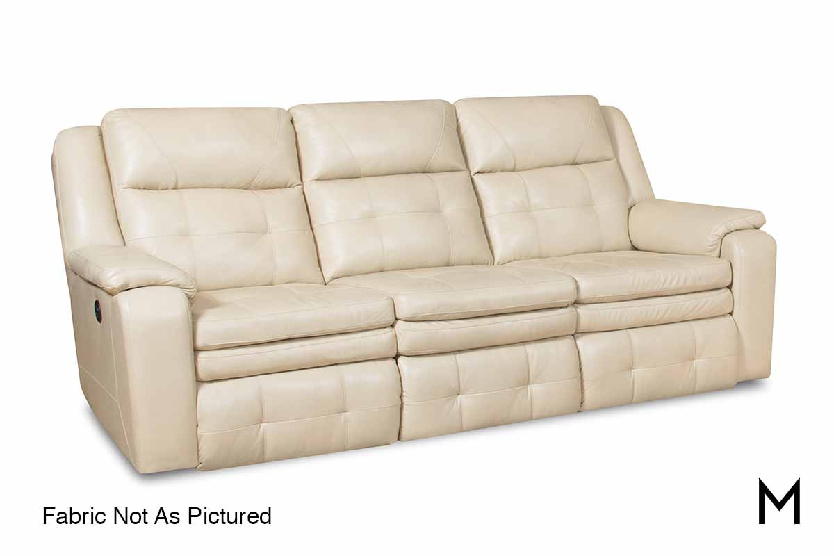 M Collection Inspire Double Reclining Sofa With Power