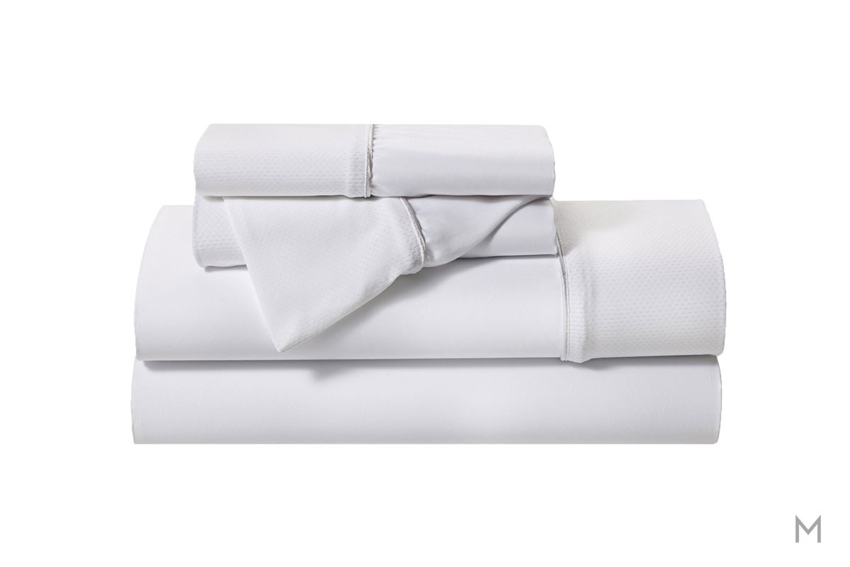 Hyper-Cotton Quick Dry Performance Sheets - Queen in White
