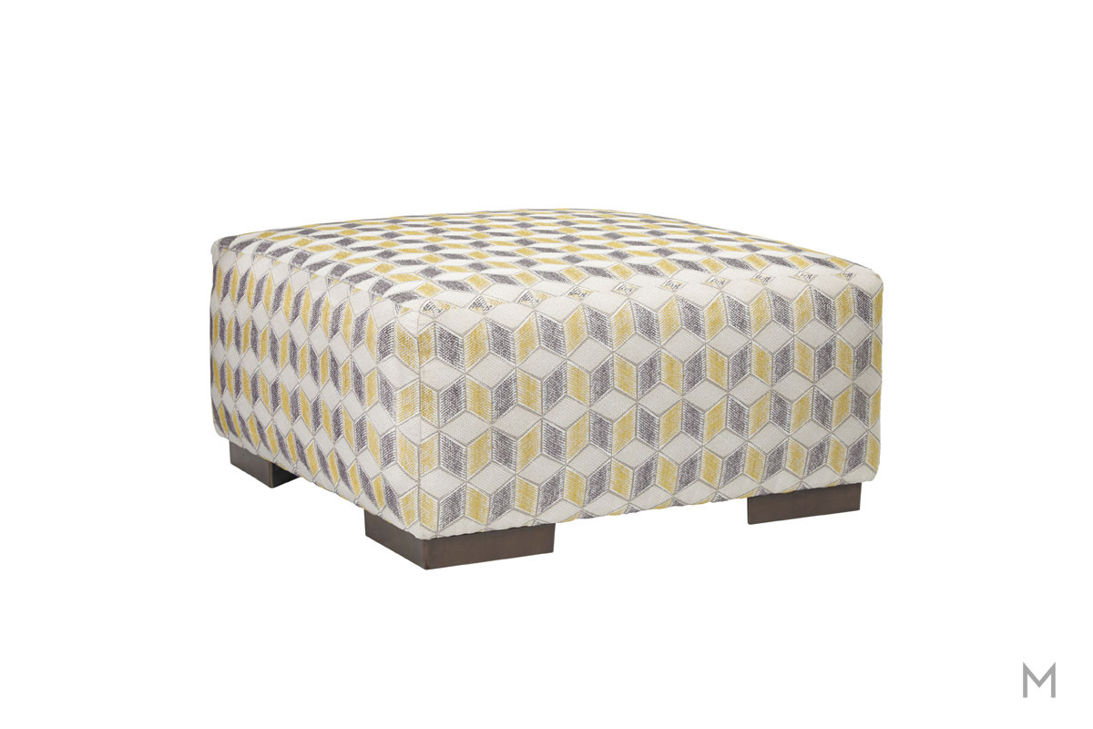 Fallsworth Ottoman in Geometric Fanning Pattern