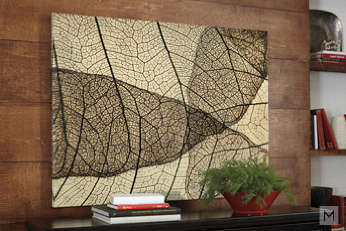 Leaf Skeleton Wall Art on Canvas