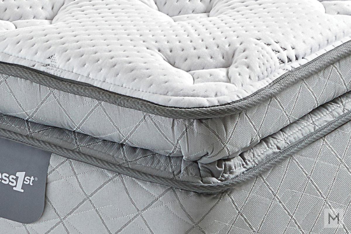 Mattress 1st Graclyn Super Pillow Top Mattress - Queen with Gel-Enhanced Memory Foam