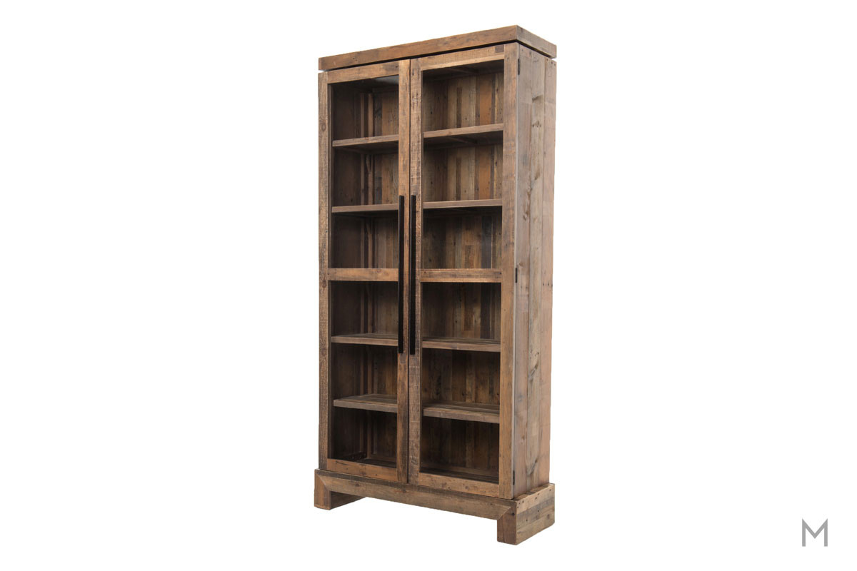 office bookcases with doors. Camino Bookcase With Reclaimed Wood And Glass Doors Office Bookcases