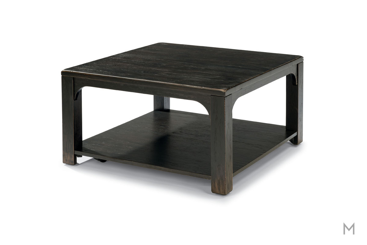 Homestead Square Coffee Table featuring a Black Weathered Finish