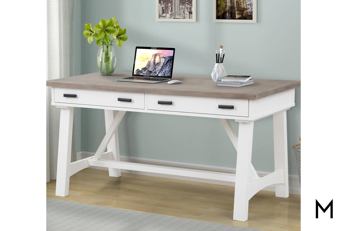 M Collection Americana Modern 60 Writing Desk In Cotton