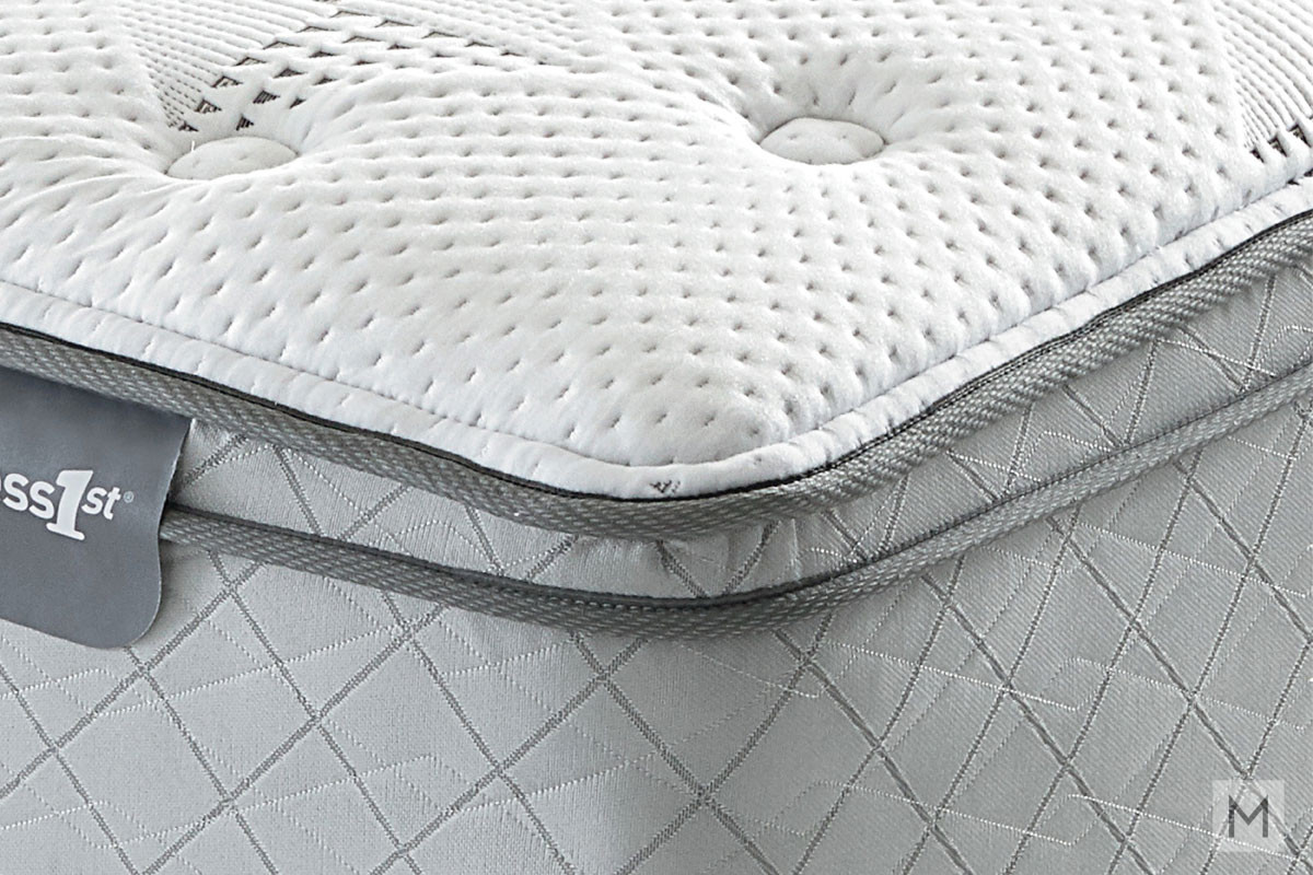 Mattress 1st Harrell Euro Top Mattress - King with Gel-Enhanced Memory Foam