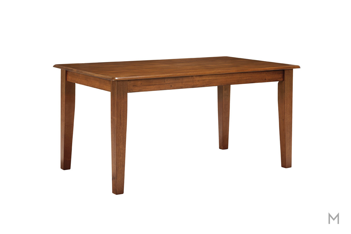 "Berringer 60"" Rectangular Dining Table in Rustic Brown"