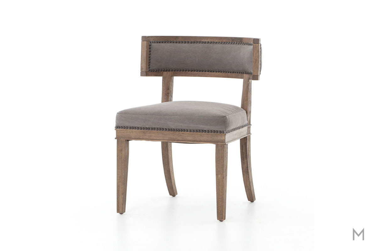Carter Dining Chair featuring Nailhead Trim and Canvas