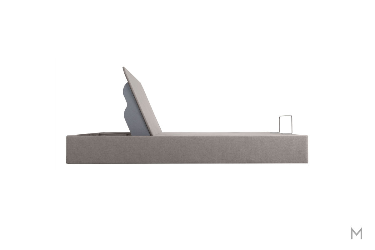 Tempur-Pedic TEMPUR-Up Adjustable Base - Queen in Gray Upholstery