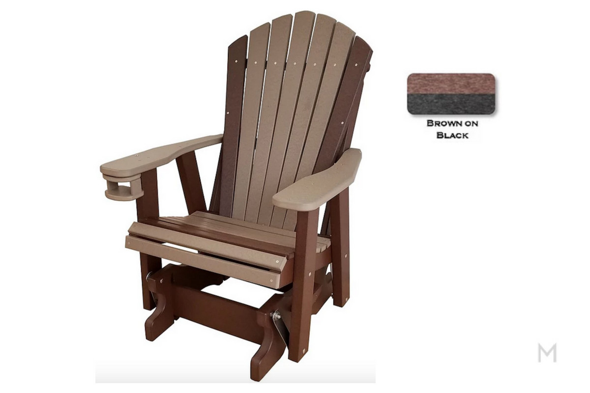 Brown with Black Glider Cup holder Included