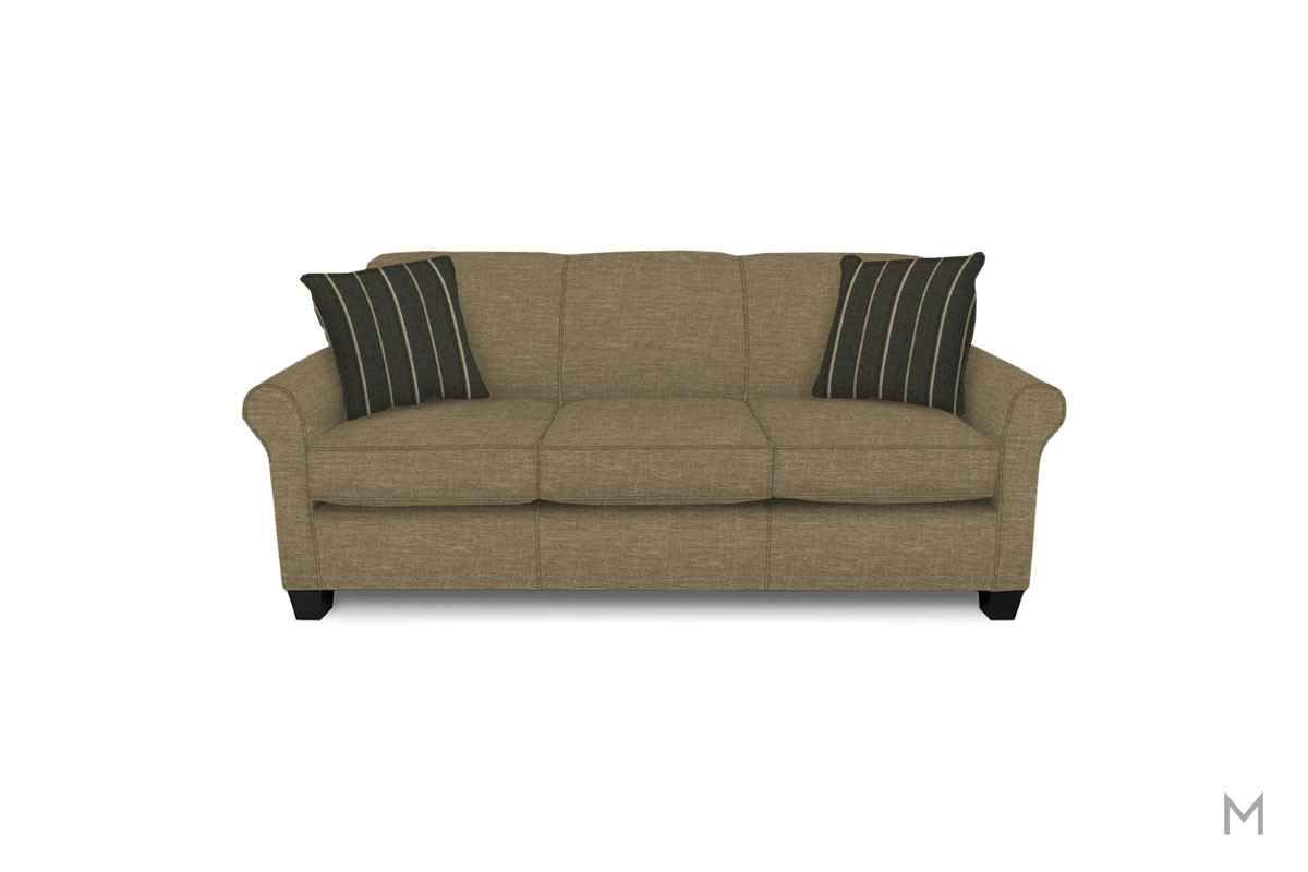 Angie Sofa in Paradigm Silt Brown