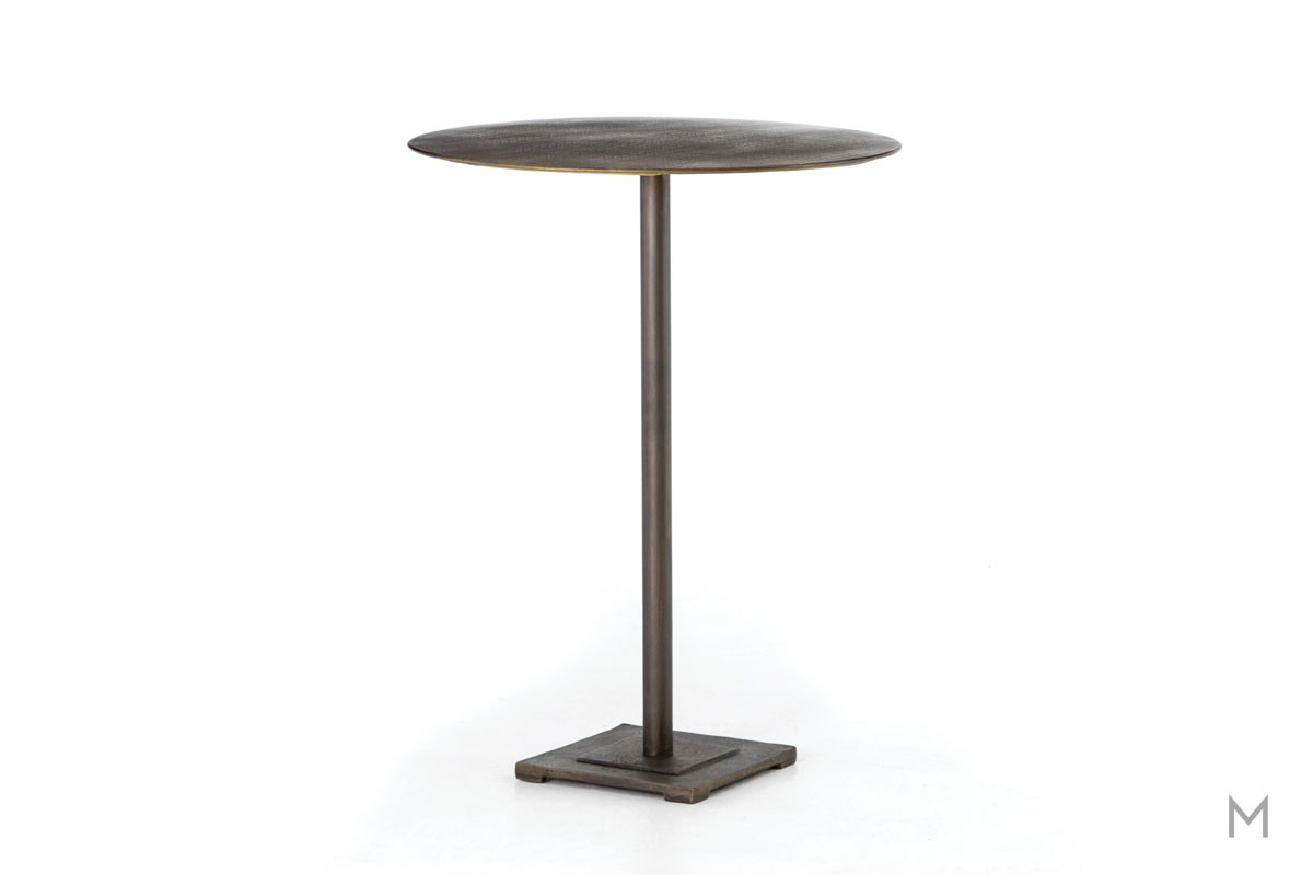 Fannin Bar Table featuring Acid-Etched Top Pattern