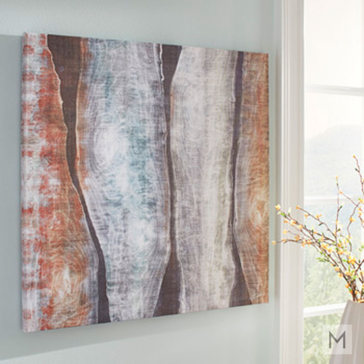 Abstract Woodgrain Wall Art on Canvas