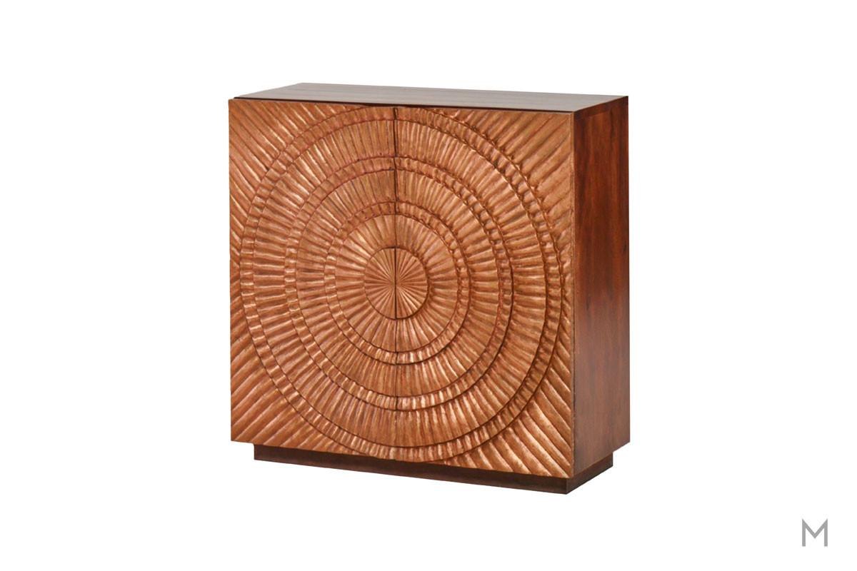 M Collection Circular Copper Cabinet in Copper