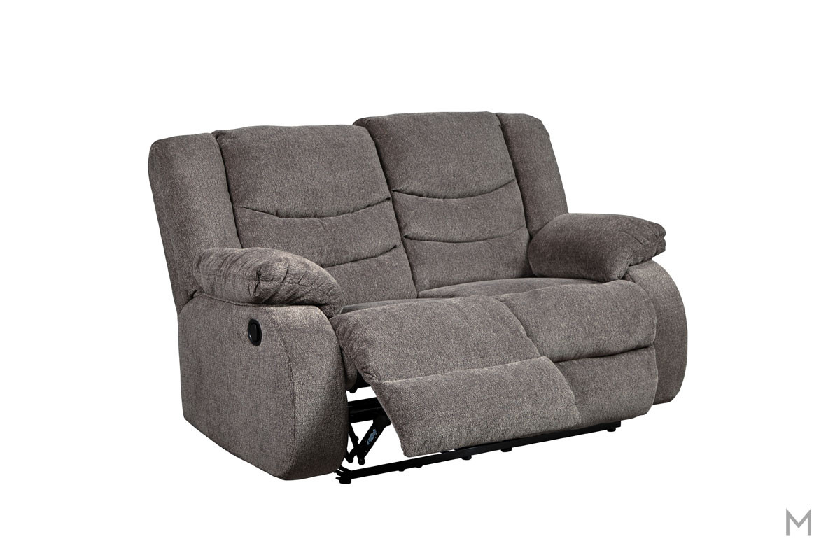 Tulen Reclining Loveseat in Gray
