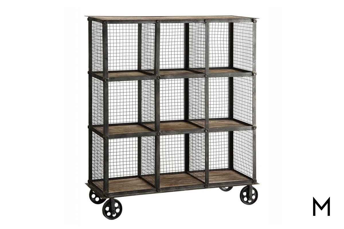 Industrial Cubby Bookcase