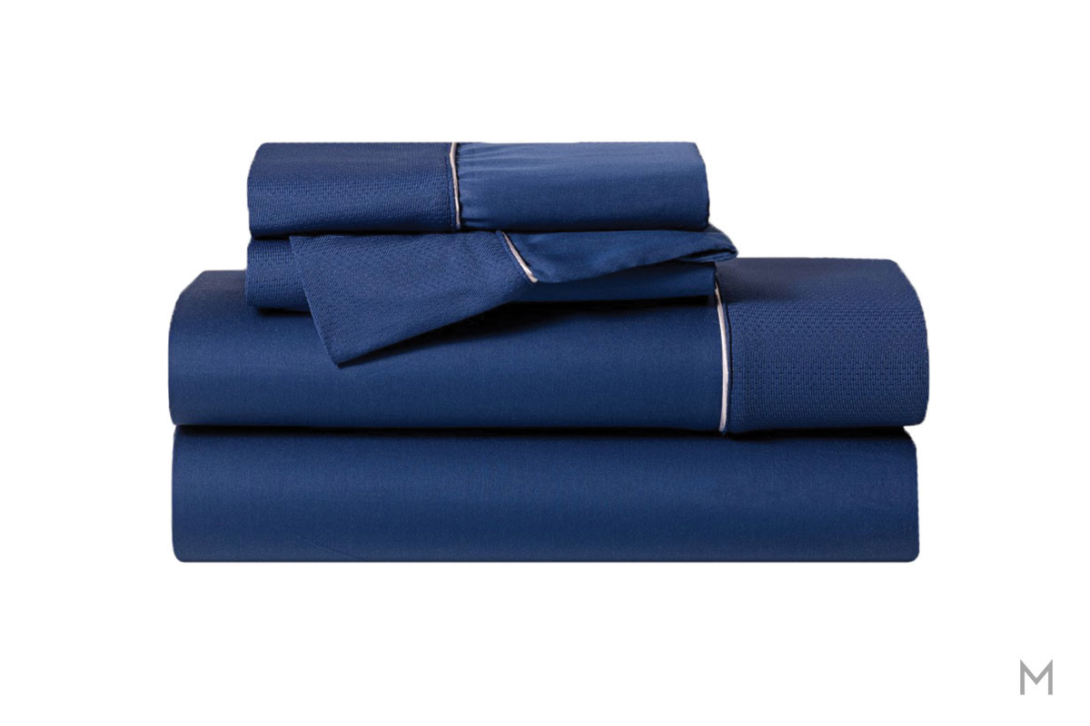 Hyper-Cotton Quick Dry Performance Sheets - California King in Navy