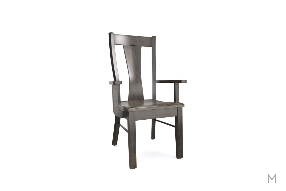 Boone Dining Arm Chair in Two-Tone Gray