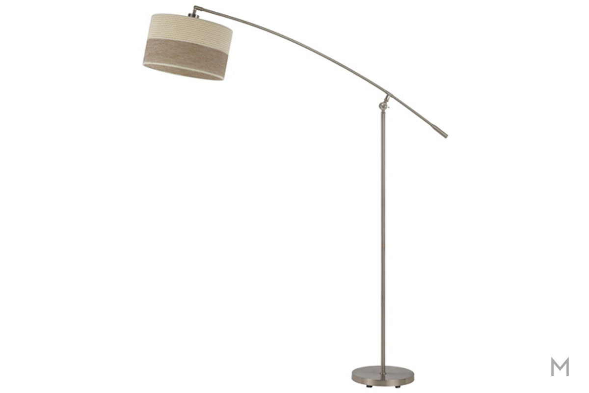 Ivanhoe Balance Arm Metal Floor Lamp in Brushed Steel