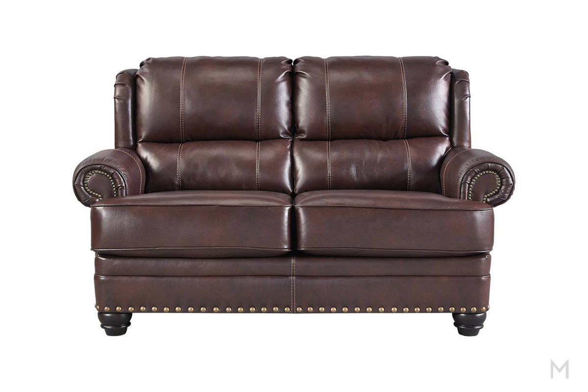 Glengary Leather Loveseat
