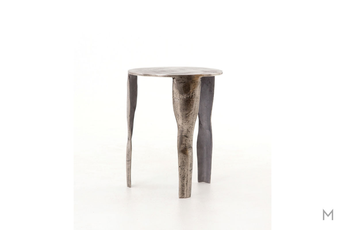 Clyde End Table made from Cast Aluminum
