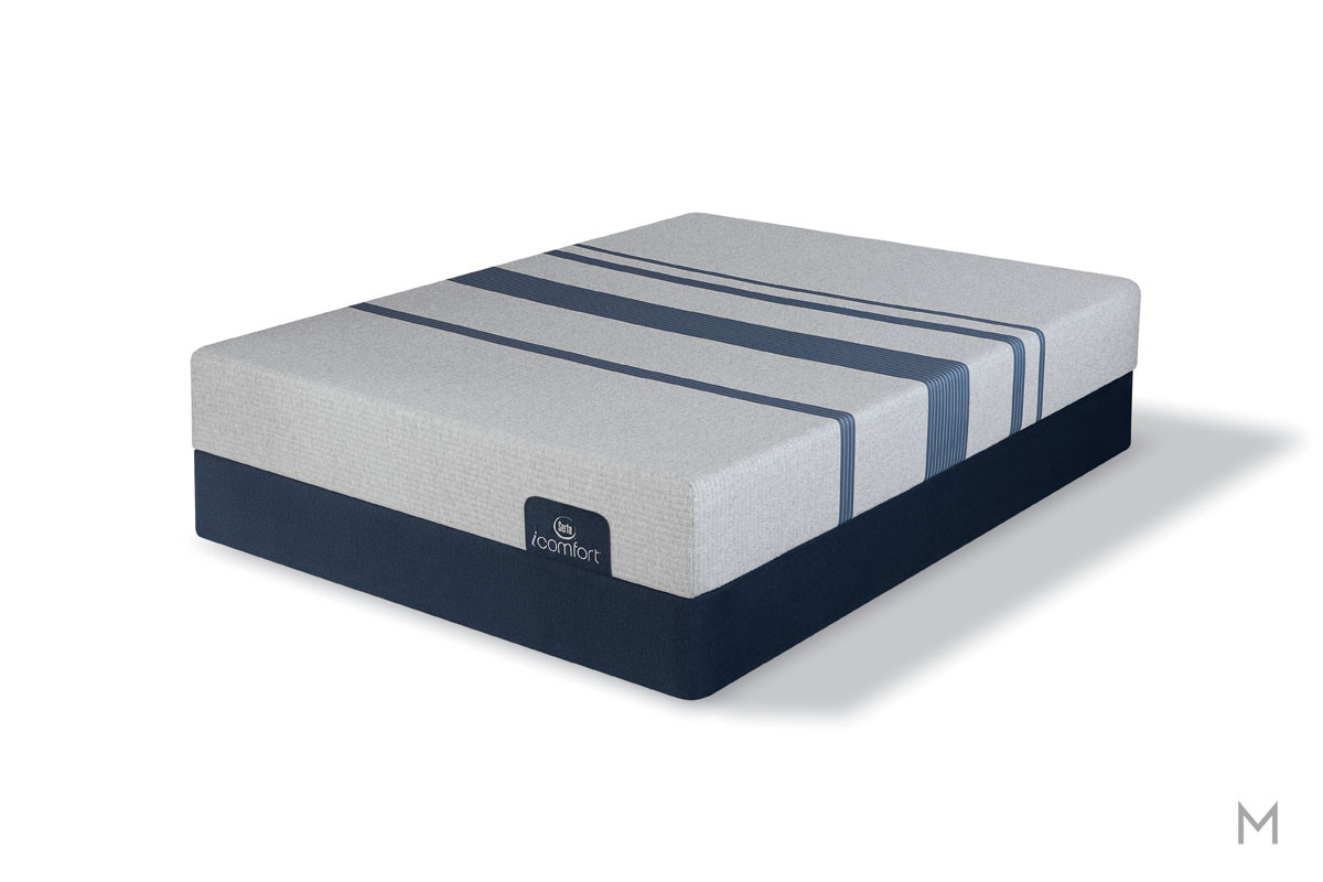 Serta Blue 100 Gentle Firm Mattress - Queen with Evercool® Fuze™ Memory Foam