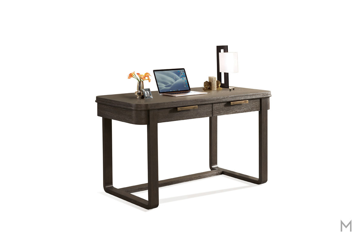Precision Writing Desk in Umber