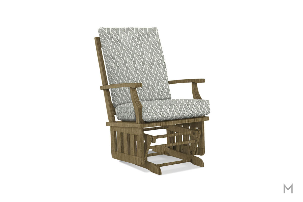 Heather Glider Rocker in Dove