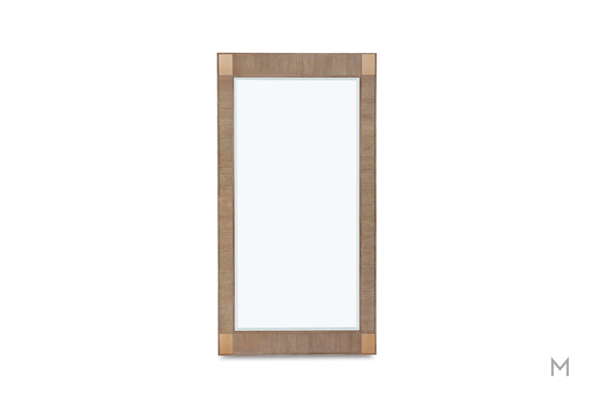 Hudson Full Length Floor Mirror featuring Brass Insets