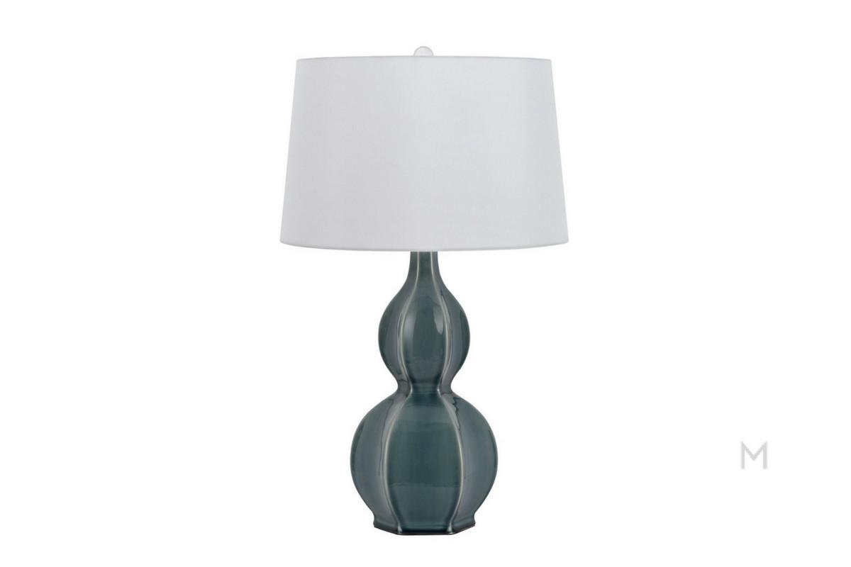 Blue Ceramic Casual Table Lamp
