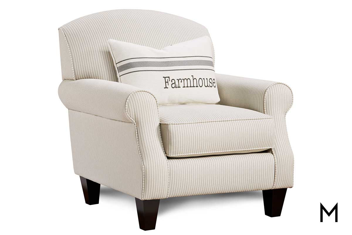 Modern Formal Living Room, Farmhouse Accent Chair