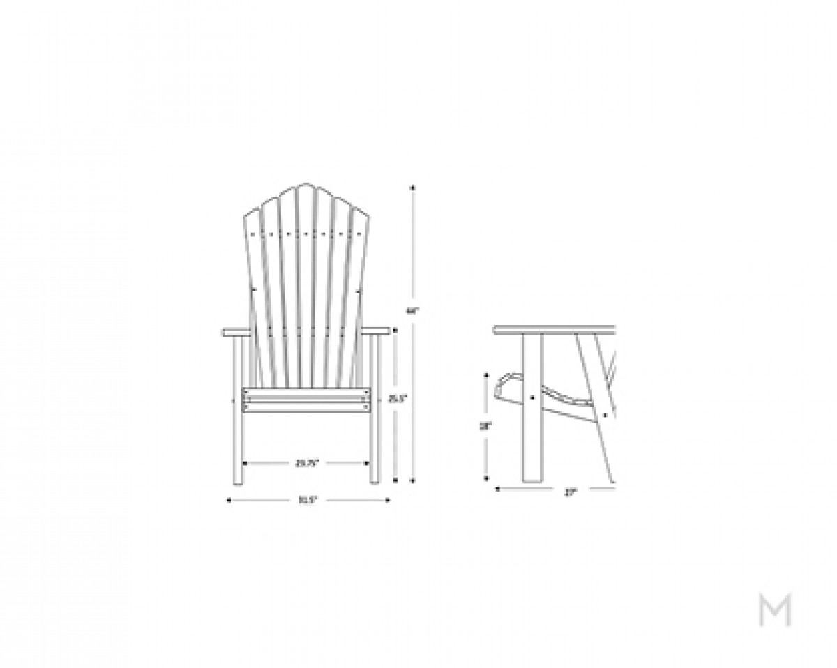 Weatherwood Cherry Patio Chair