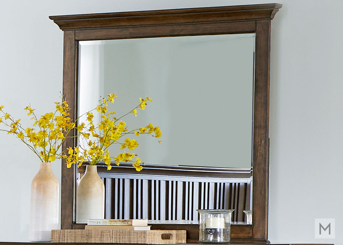 Mill Creek Mirror in rustic cherry