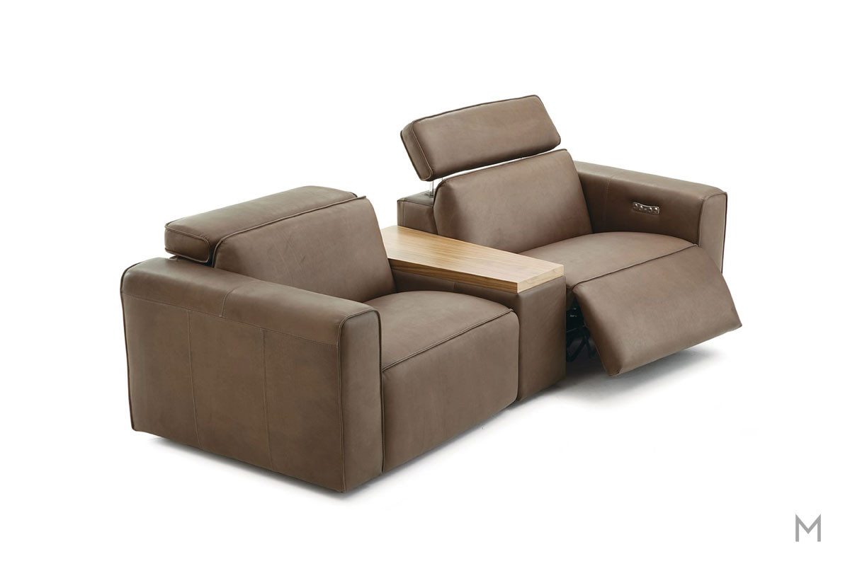 PM002 3 Piece Power Sectional with Power Headrest and Recline