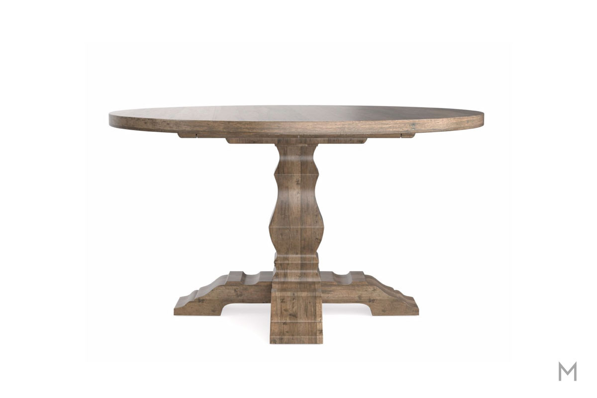"Tavern 54"" Round Dining Table in Distressed Brown"