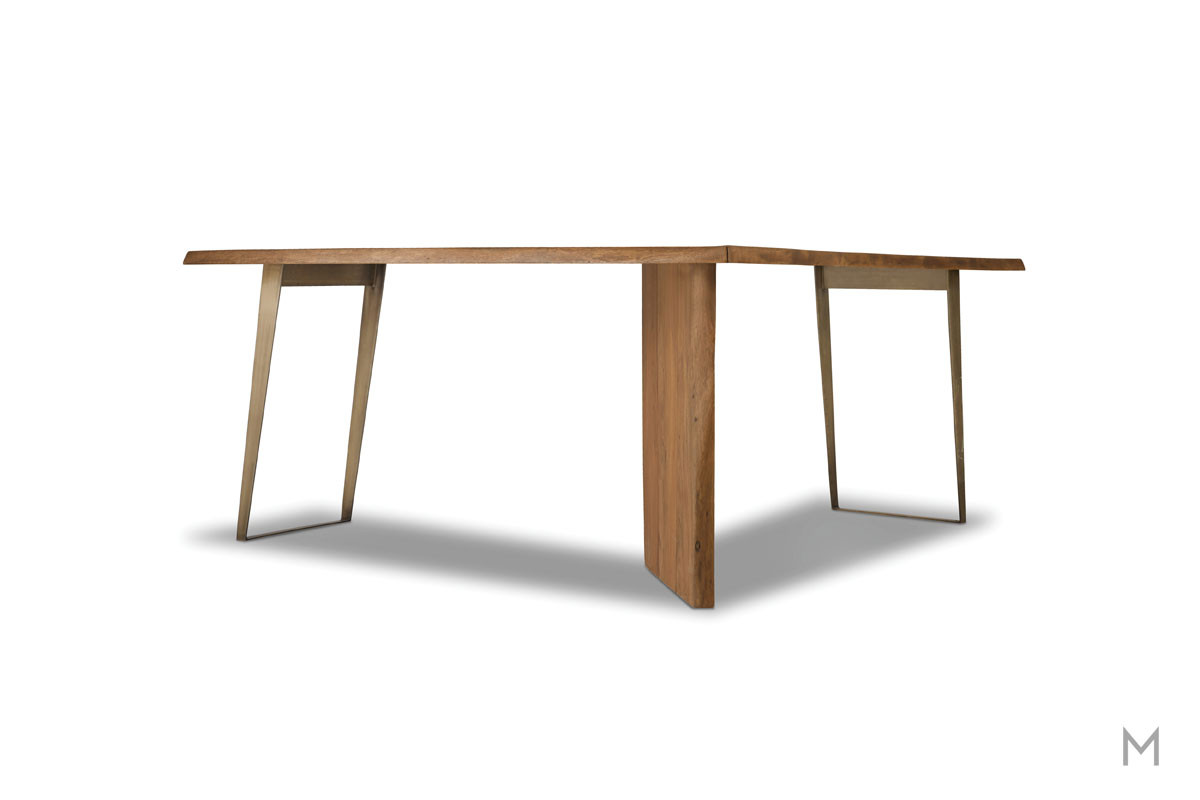 Transcend L-Shaped Desk made of Acacia Wood