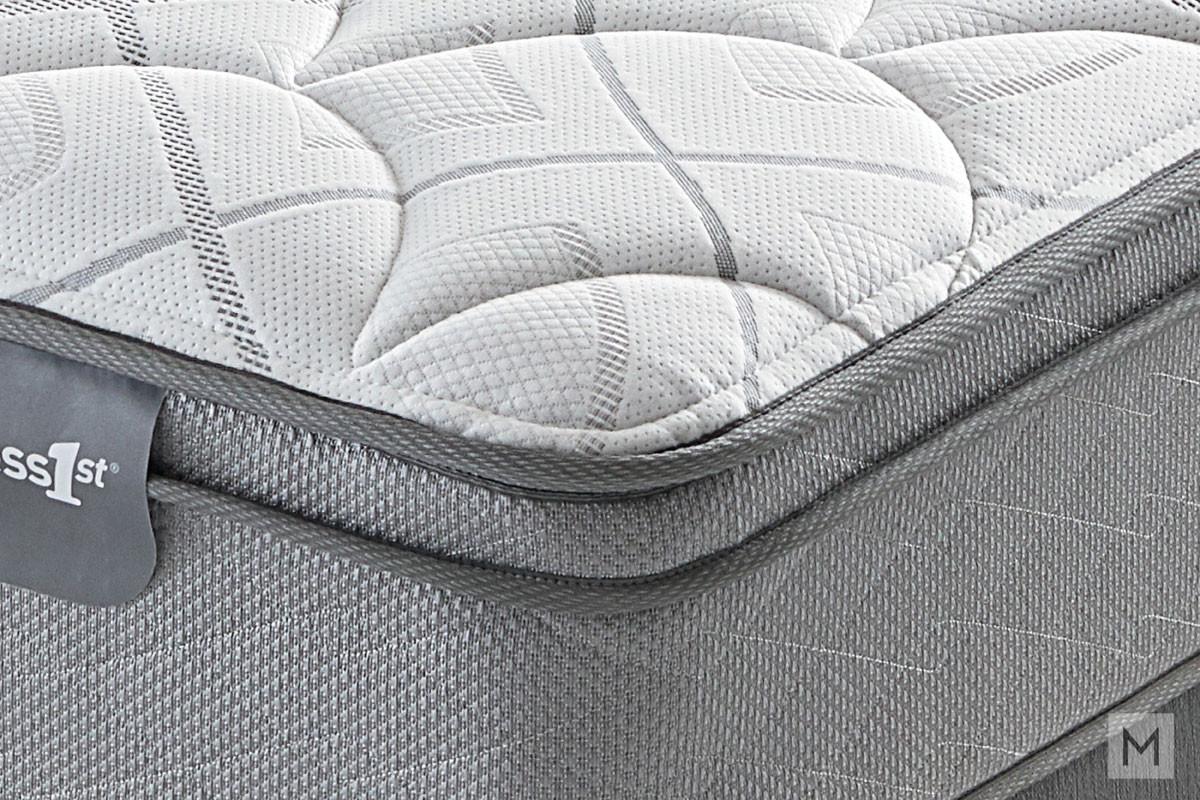 Mattress 1st Beverley Euro Top Plush Mattress - Twin XL with 520 Mira-Coil®